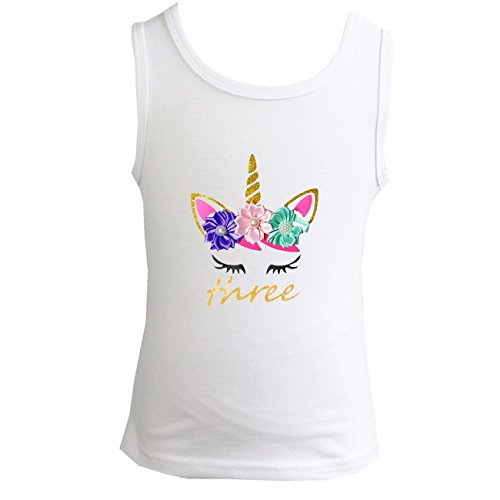 Kirei Sui Girls 1st - 5th Birthday Unicorn Top 110 Three by Kirei Sui
