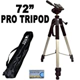 ".. Professional PRO 72"" Super Strong Tripod With Deluxe Soft Carrying CaseFor The Panasonic HDC-TM700K (TM700), HDC-HS700K (HS700), HDC-TM20K (TM20) HD Camcorder"