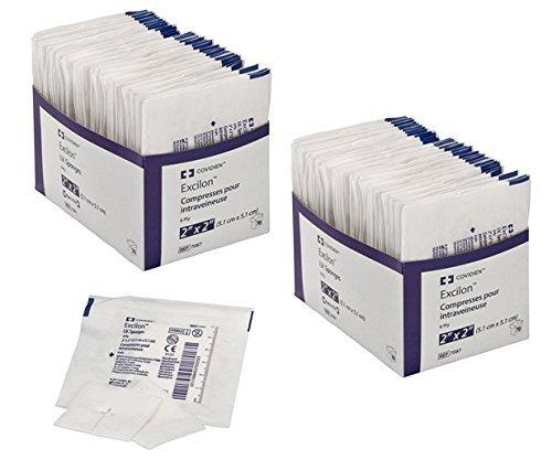 Covidien 7087 Excilon I.V. Sponge, Sterile 2's in Peel-Back Package, 2'' x 2'', 6-ply (Pack of 70) (2) by COVIDIEN