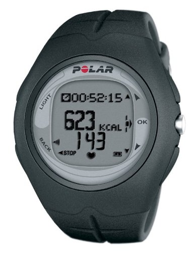 Polar F6 Men's Heart Rate Monitor Watch (Black - Stopwatch Polar