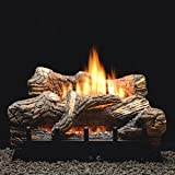 Manual 5-piece 18'' Ceramic Fiber Log Set - Natural Gas