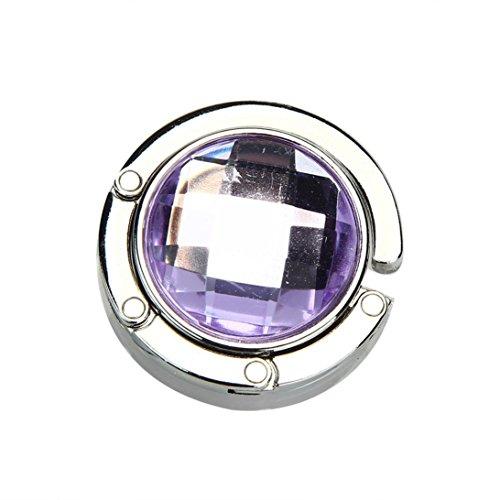 Charberry Colorful Portable Multiple Handbag Folding Hook Holder Purple