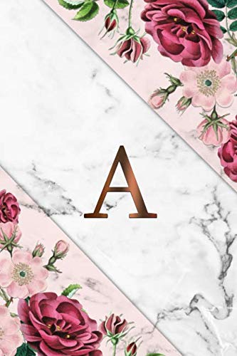 - A: Cute Initial Monogram Letter A Dot Grid Bullet Notebook. Pretty Personalized Journal & Diary with Dotted Grid Pages for Writing & Note Taking for ... - Nifty Pink Grey Marble & Gold Floral Print
