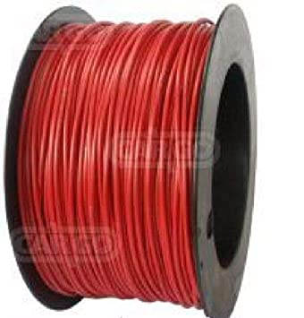 AUTOMARINE 12V 24V 5m LENGTH 25 AMP RED SINGLE CORE THIN WALL CAR BOAT CABLE