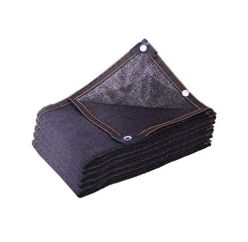 (YSHCA 95% Shade Cloth, HDPE Sunblock Shade Fabric, Polyethylene Heavy Duty Sun-Block Mesh Shade for Flowers Plants Patio Lawn,Black_30x54ft/10x18m)