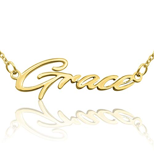 Beam Reach Grace Nameplate Necklace in Gold Tone ()