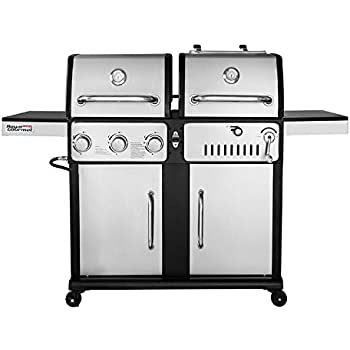 Amazon Com Smoke Hollow 8500 Lp Gas Charcoal Grill With