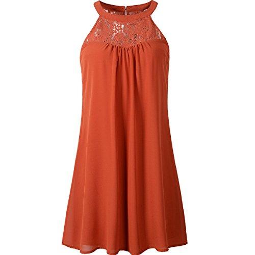 vanberfia Women's Lace Loose Casual Chiffon Dress (XL, 7814) ()