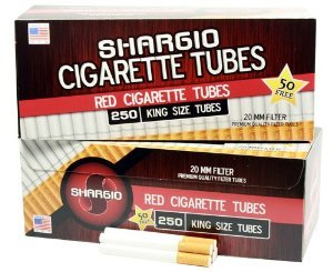 Case of 40ct Shargio Cigarette Tubes King Full Flavor ~ 250ct in Each Box ~ Total 10,000 Tubes!