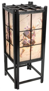 Oriental Furniture 18'' Samurai Shoji Lamp - Black