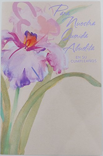 - Feliz Cumpleanos Querida Abuelita - Happy Birthday Grandma Greeting Card in Spanish