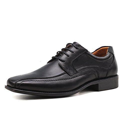 Ausland Shenda Hommes Vélo Orteil Cravate Oxford Chaussures Habillées Noir