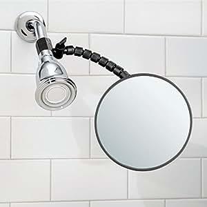 Mdesign espejo antivaho de pl stico y cristal para for Espejo ducha