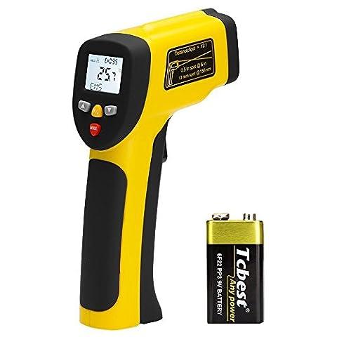 AVANTEK Dual Laser Infrared Thermometer -58 ºF - 1562 ºF (-50 ºC - 850 ºC), Non-Contact Digital IR Temperature Gun, Adjustable Emissivity, MAX/MIN/DIF/AVG Modes with Temperature - Infared Thermometer