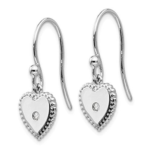 ICE CARATS 925 Sterling Silver Diamond Heart Drop Dangle Chandelier Earrings Love Fine Jewelry Gift Set For Women Heart by ICE CARATS (Image #3)