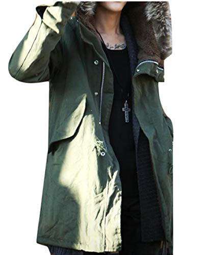 Green Down Padded Jacket Coat with Gocgt Winter Men's Hood Army Cotton Parka wOw8apPq
