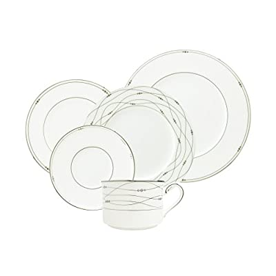 Royal Doulton Precious Platinum 5-Piece Place Setting - Dishwasher safe - kitchen-tabletop, kitchen-dining-room, dinnerware-sets - 413SGQ8A95L. SS400  -