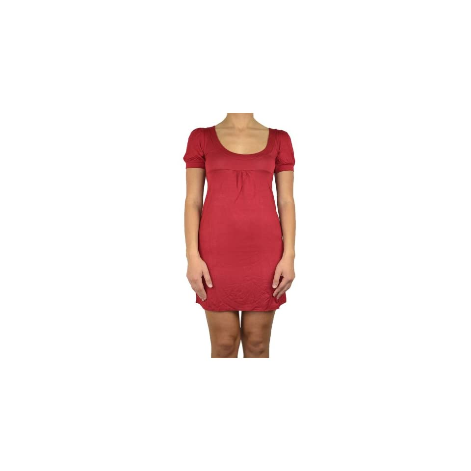 143Fashion Womens 1/4 Sleeve Round Neck Dress