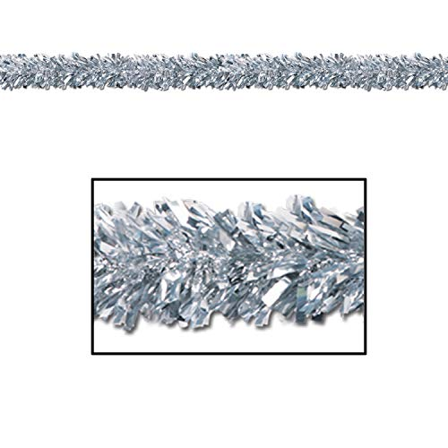 Metallic Garland Christmas Festooning Silver, Gleam N Fest Metallic Garland, Pack 12