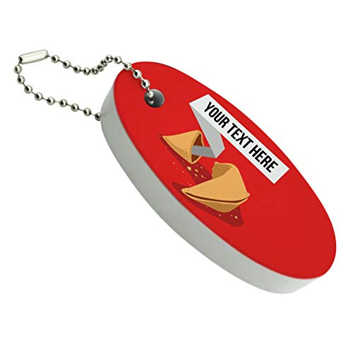 Graphics and More Personalized Custom Fortune Cookie Floating Foam Keychain Fishing Boat Buoy Key Float