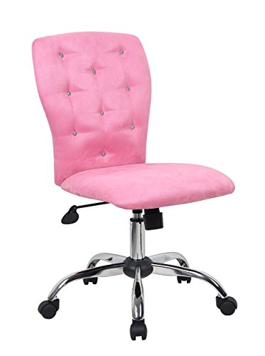 Boss Office Products B220-PK Tiffany Modern Office Chair in Pink (Renewed)