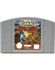 Game Cartridge,Dobnmm Game Memory Card Compatible for Pokemon Stadium N64 US Version