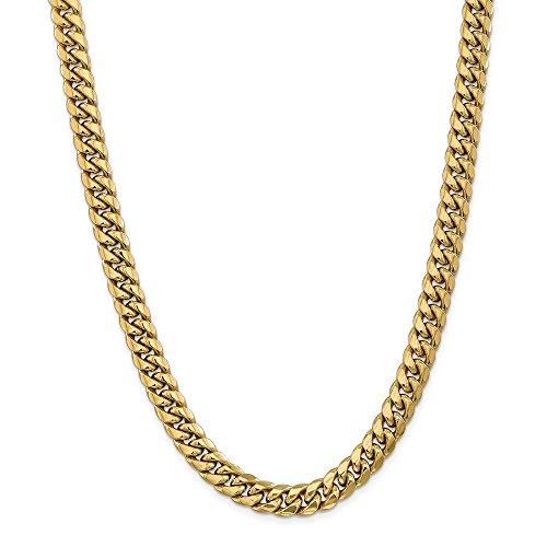 Jewelry Necklaces Chains 14k 9.3mm Semi-Solid Miami Cuban - Cufflinks 14k Chain