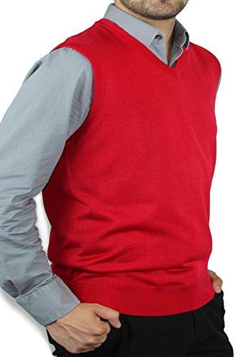 Blue Ocean Solid Color Sweater Vest-Large