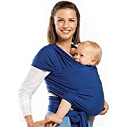Boba Baby Wrap Carrier Bamboo, Dark Blue - The Original Child and Newborn Wrap, Perfect for Infants and Babies Up to 35 lbs (0-36 Months)
