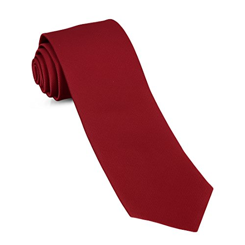 Handmade Skinny Woven Slim Mens Tie By Luther Pike: Thin Burgundy Red Ties For Men, Stylish For Every (Thin Narrow Tie)