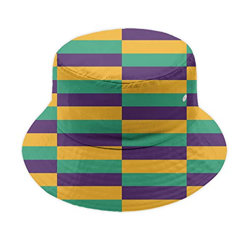 Adult Men's Fishermen Caps Boonie Hat, Mardi Gras Jester Sun Hat Slouch Hat, Relaxed Fit Packable Reversible Outdoor Summer Cap Golf Cap Cycling Cap|UPF 50+ -