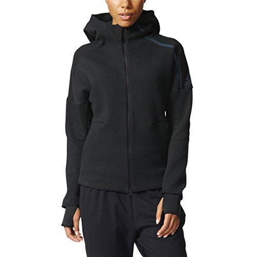 adidas Women's ZNE Hoodie, Black, Medium