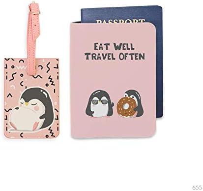 Penguin Wonderland Bisu Bisu personalized Passport Cover and Luggage Tag set