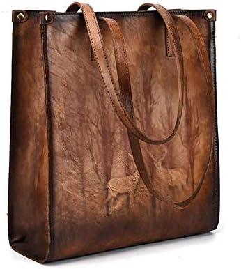 バッグ - トップレイヤー牛革/ポリエステル、ヨーロッパスタイルのファッションハンドバッグ、ショルダーバッグ/ショルダーバッグ、大容量/ソフト/ウェアラブル(30x11x34cm) よくできた