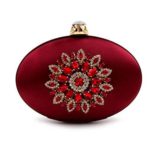 Rising Party Purse Women Brown Ladies ONCasual Bags Day Flower Clutch Clutches Bag Evening awqWXarI