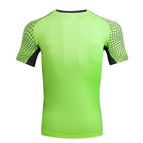T Shirts for Men, MISYYA Color Match T Shirt Breathable Sweatshirt Sport Undershirt Muscle Tank Top Tee Gifts Mens Tops Green by MISYAA (Image #1)