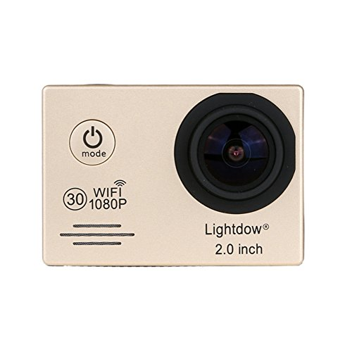 Lightdow LD6000 WiFi 1080P HD Sports Action Camera Bundle with DSP:Novatek NT96655 Chip, 2.0-Inch LTPS LCD, 170° Wide Angle Lens and Bonus Battery (Gold+WiFi) Action Cameras ZLY Technology