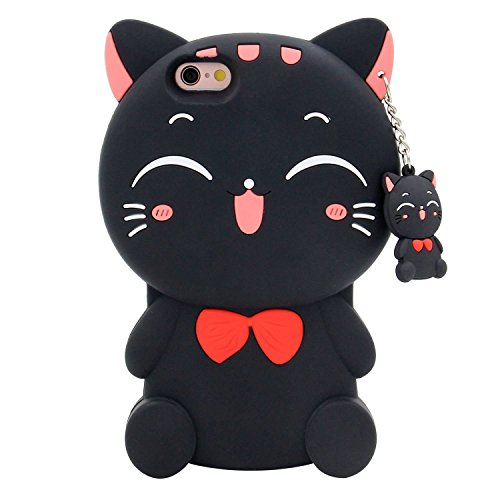 Price comparison product image Urberry Touch 5 Case,Cute Kitty iPod 5/6 Case, 3D Cute Cartoon Animal Soft Silicone Rubber Case with a Free Screen Protector