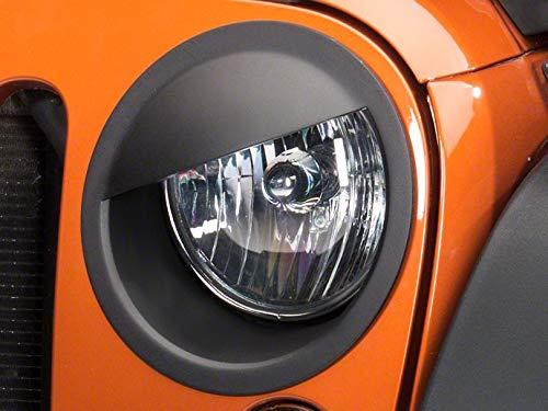 Redrock 4x4 Angry Eyes Headlight Conversion - Matte Black - for Jeep Wrangler JK 2007-2018