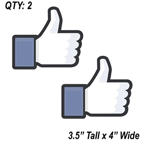 Two Facebook Thumbs Like UP Vinyl Decal Sticker for Car Laptop Skateboard