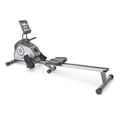 Marcy Foldable 8 Level Magnetic Resistance Rowing Machine with Transport Wheels NS 40503RW