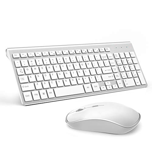 JOYACCESS Wireless Keyboard and Mouse Combo,Compact Wireless Keyboard with  Numeric Keypad,Ergonomic Full-size 2400 DPI Mouse