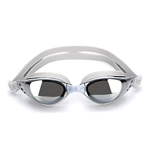 Anti Fog Swimming Goggles for Adult Men, Women and Ladies with UV Protection with Free Nose Plug- Comfortable Reflective Tinted Lens Swim Glasses