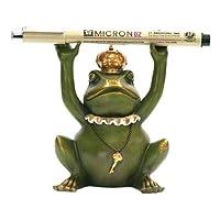 STERLING Superior Frog Gatekeeper Pen Holder