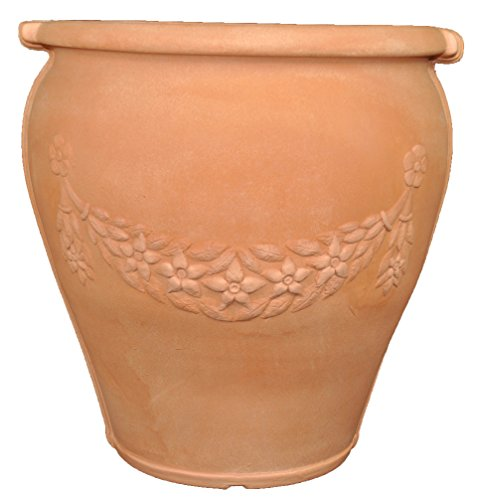 Tusco Products GU14WTC Garland Urn, Terra Cotta, 14-Inch