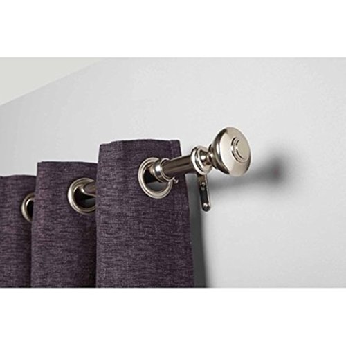 Better Homes and Gardens Silver Knob Curtain Rod Set 48x84 Nickel from Better Homes & Gardens