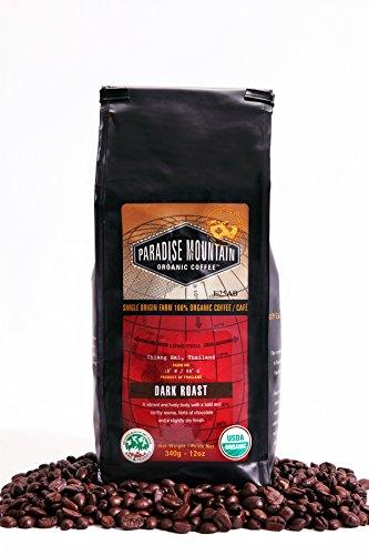 Paradise Mountain, Rare Thailand Dark Roast, Certified Organic, Fair Trade, Whole Bean Coffee 16oz (Rare Coffee Beans compare prices)