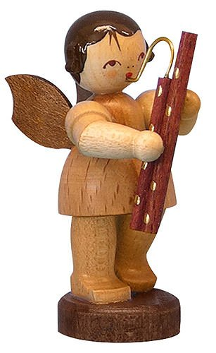 german christmas angel with bassoon natural colors standing 6cm 23