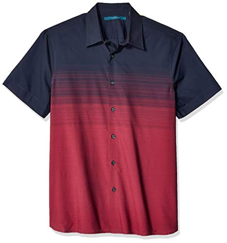Perry Ellis Men's Ombre Stripe Shirt, Dark Sapphire-4ESW7060, Extra Extra Large