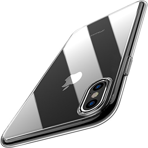 TOZO for iPhone X Case, Crystal Clear Soft TPU Gel Skin Ultra-Thin [Slim Fit] Slim Fit Transparent Flexible Premium Cover [Wireless Charger Compatible] for iPhone 10 / (Clear Silicone Skin Case)
